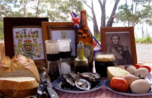 Brown bread, oysters and stout formed the picnic menu at Clontarf on 12th March 1868: photo taken on 12th March 2013 at Mt York Reserve in the Blue Mountains where it was proposed in 1895 to erect a statue of Prince Alfred.  Photo mrbbaskerville 2013.