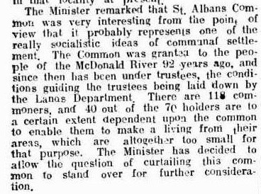 A politician realizes the significance of a common. Windsor & Richmond Gazette, 26 January 1917, page 8